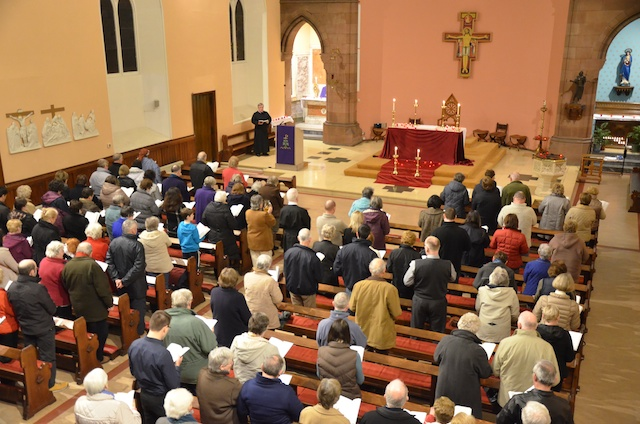 Fr Kieran Brady opens the parish mission in Perth
