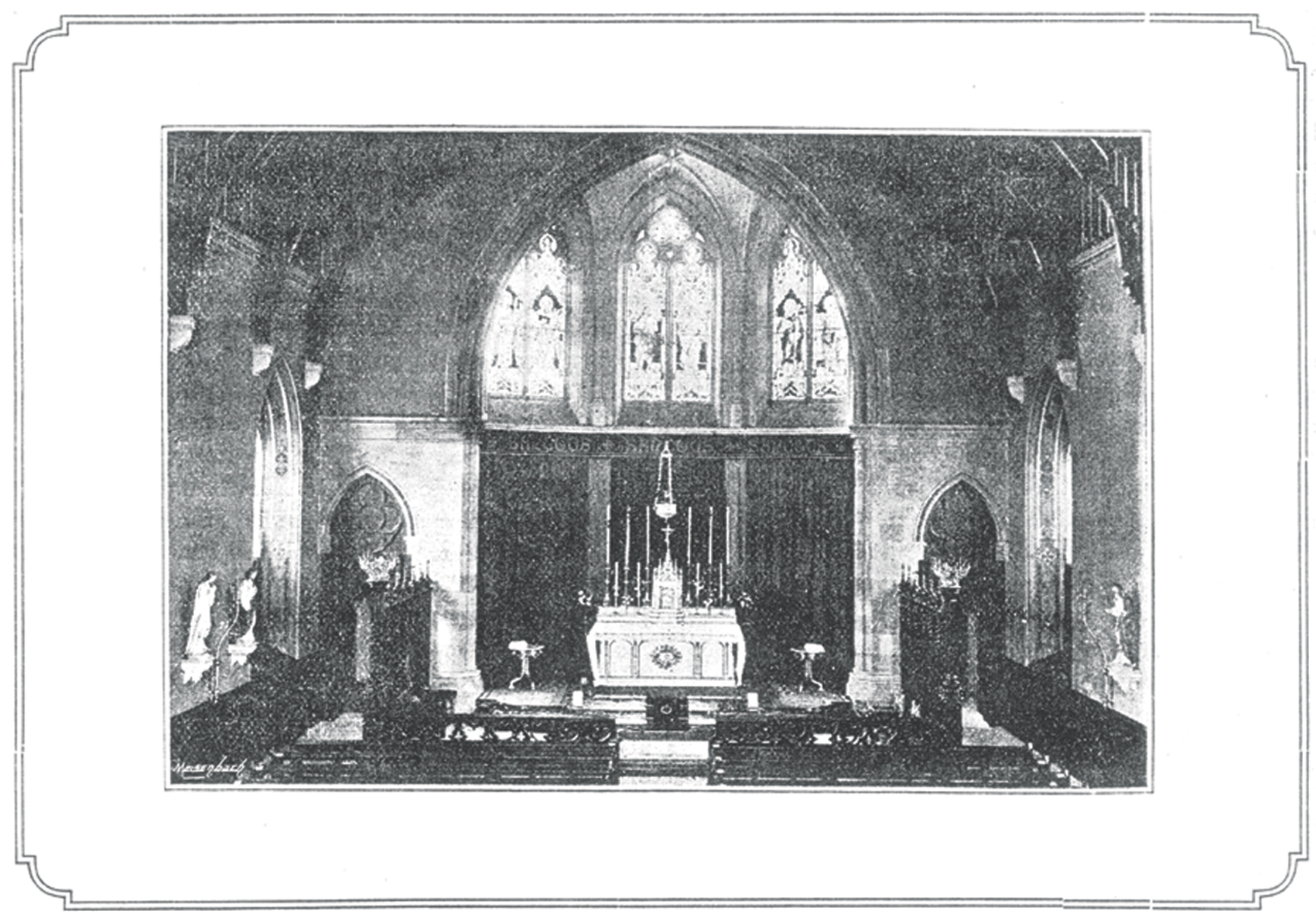 Interior of St John the Baptist's RC Church, Perth, in 1895