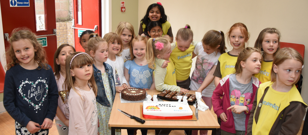 Brownies and Rainbows prepare to celebrate 100 years in St John's Perth - getting ready to light the candles