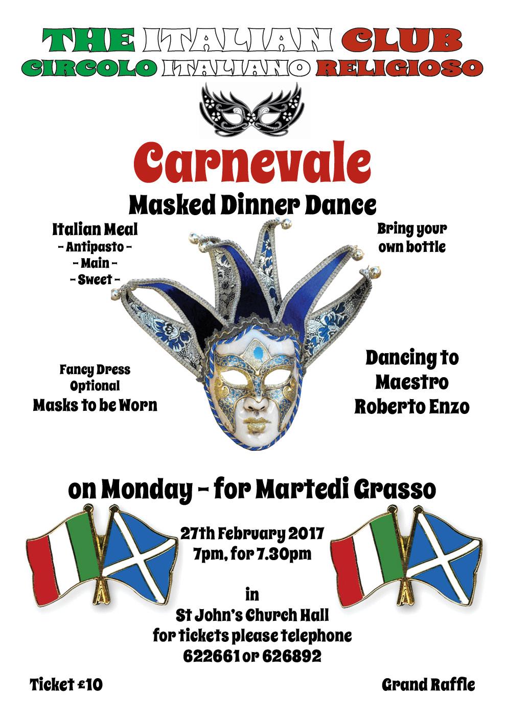 Carnevale - Masked Dinner Dance @ St John's RC Church Hall | Scotland | United Kingdom